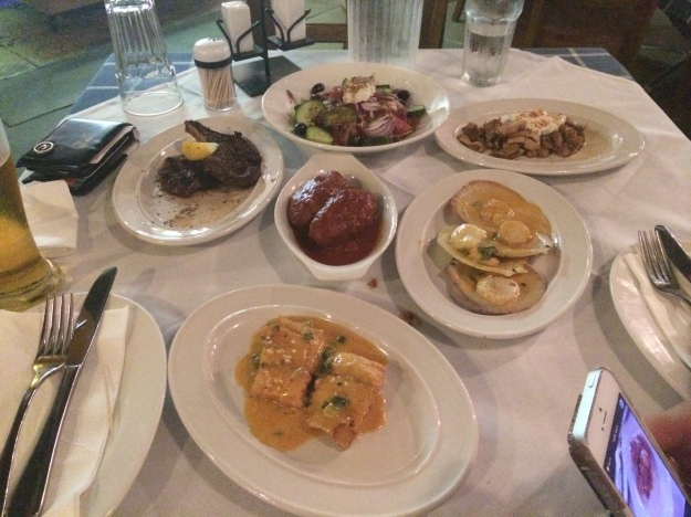 The food at Fetta's Greek Taverna was so good!!