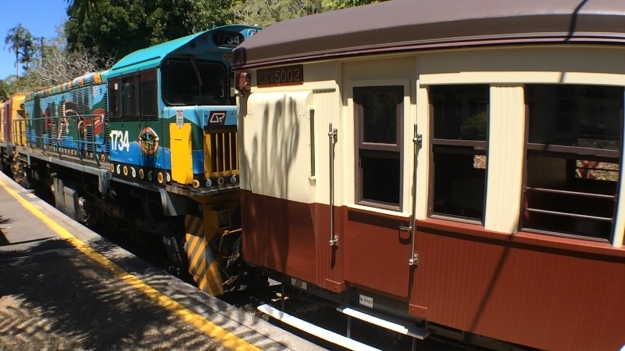 The Beautifully Painted Kuranda Scenic Railway Engine